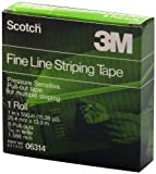 Scotch 06314 1'' x 550'' Fine Line Striping Tape with 8 Pull Outs