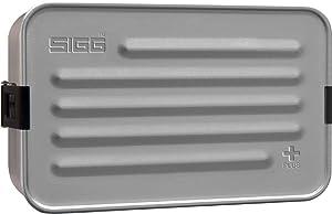 Sigg Metal Box Plus L Alu, Lunch Box with Food Separator, Aluminum, BPA Free - 47oz