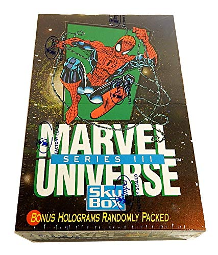 - 1992 Marvel Universe Series 3 III Trading Card Box of 36 Packs Factory Sealed, X-Men, Spider-Man
