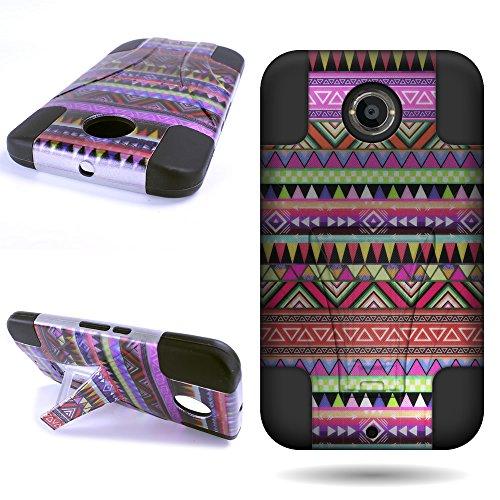 Nexus 6 Case, CoverON Rugged Impact Armor Hybrid Case for Motorola Google Nexus 6 - Design Tribal Aztec (Nexus 6 Case Pattern)