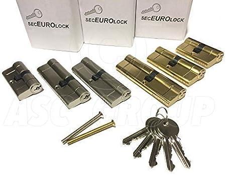 SecEuro Euro PVC serrure pour la porte en laiton 40//55mm avec 5 Cl/és Dispositif Anti Per/çage Anti Crochetage Anti Braquage Contre Claquement De Portes
