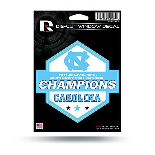 Rico Industries NCAA North Carolina Tar Heels Sports Fan Automotive Decals, Baby Blue and White, one Size