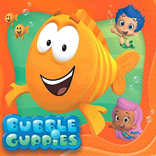 Bubble Guppies Small Napkins, 16 Pack