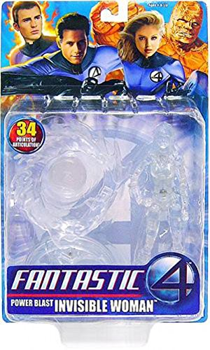 Toy Biz Fantastic 4 Power Blast Invisible Woman Action Figure - Clear Variant
