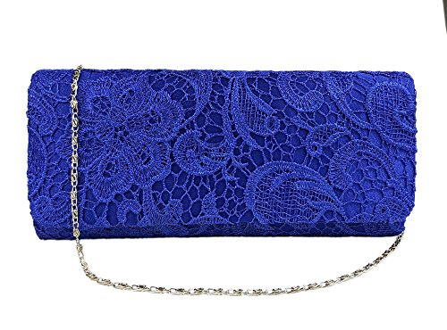 Aimira woman bags wedding Evening Prom clutch for lace Party lady Blue bag BBnrF7a