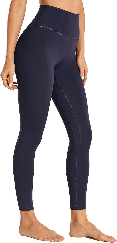 CRZ YOGA Women's Naked Feeling I 7/8 High Waisted Pants Yoga Workout Leggings Heather - 25 Inches