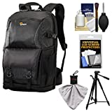 Lowepro Fastpack BP 250 AW II DSLR Camera Backpack Case (Black) with Tripod + Accessory Kit