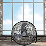 #1 Kool-it Max Performance 20 Super High Velocity 3 Speed Large Industrial Floor / Wall Mount Fan Black - No Assembly Required - Flagship Model