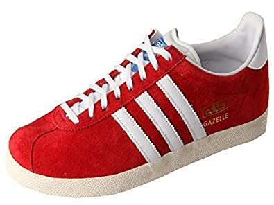 half off ef85b 4e47c Image Unavailable. Image not available for. Colour Adidas Gazelle OG Mens  Trainer (11 UK, RedWhite)