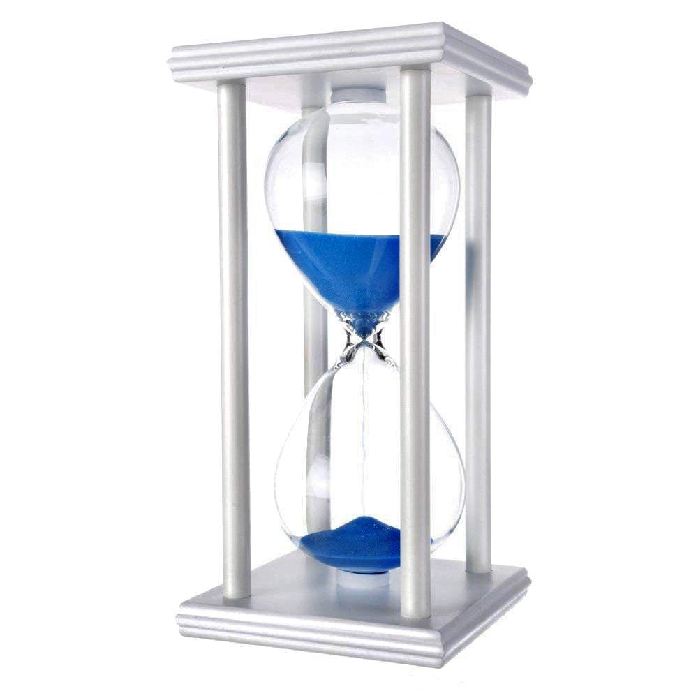 hourglass sand timers (Blue sand,white frame,60min) by Daya Fashion