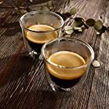 DeLonghi Double Walled Thermo Espresso Glasses, Set of 2