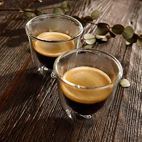 DeLonghi Double Walled Thermo Espresso Glasses, Set of 2 by DeLonghi (Image #5)