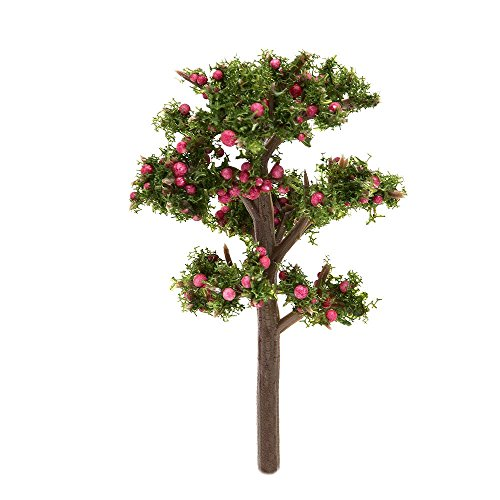 Tonsiki 4 Pcs Miniature Tree Fairy Garden Ornament Dollhouse Decor