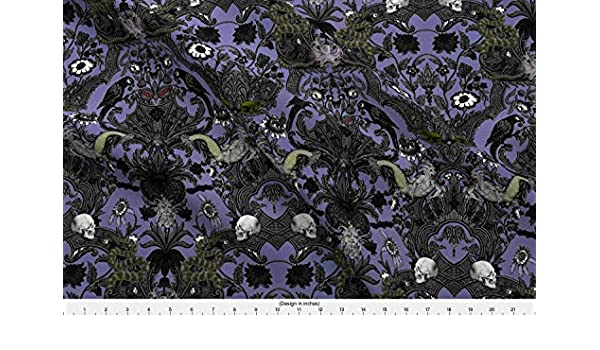 84d37a3246 Spoonflower Haunted Fabric This is Halloween! Haunted House Damask ~  Decaying Mansion by Peacoquettedesigns Printed on Modern Jersey Fabric by  The Yard