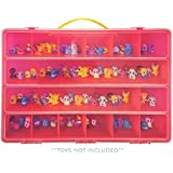 Life Made Better Squinkies Case, Toy Storage Carrying Box. Figures Playset Organizer. Accessories Kids LMB