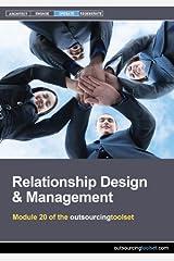 Relationship Design & Management (outsourcingtoolset, Module 20) CD-ROM