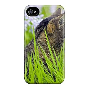 Tough Iphone SVJ10654ukaC Cases Covers/ Cases For Iphone 6(cat On Violet Flower Garden)