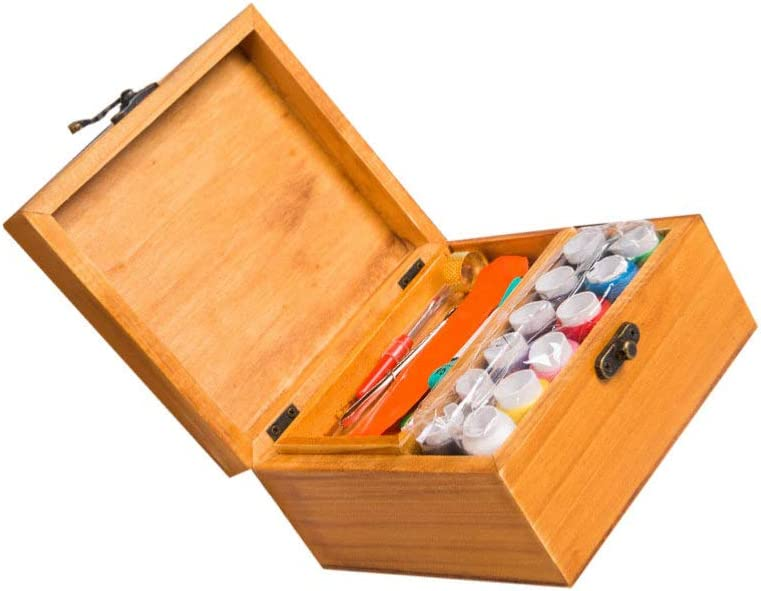 Milisten Sewing Box Suit Wooden Sewing Basket with Sewing Kit Accessories Durable Pratical Measuring Tape Sewing Set Portable Simple Home Sew Basket Kit a Great Gift for Anyone