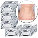 Anti Aging Treatments Set Kit of 25pcs Neck Chest Décolleté 24 K Clear Transparent Collagen Gel Crystal Masks Patches Sheets for Wrinkles Removal, Skin Toning, Firming, Whitening and Moisturizing