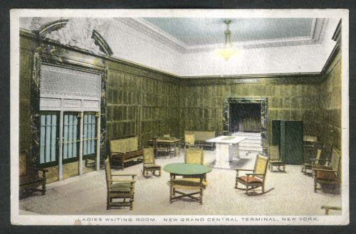 Ladies Waiting Room New Grand Central Terminal New York City NY postcard 1913