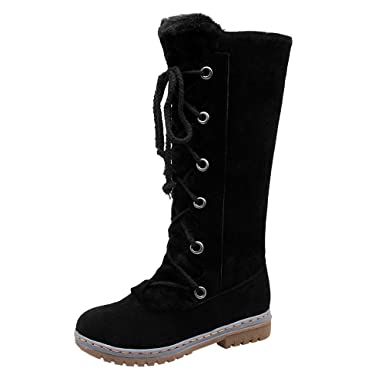 de568089af209 Amazon.com  Anshinto Women Suede Round Toe Boot