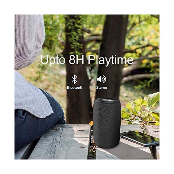 Enceinte Bluetooth Portable, Mini Haut-Parleur Bluetooth Enceinte Portable sans Fil, avec Universel Support, Compatible Android iOS et Autres Appareil, Noir 6