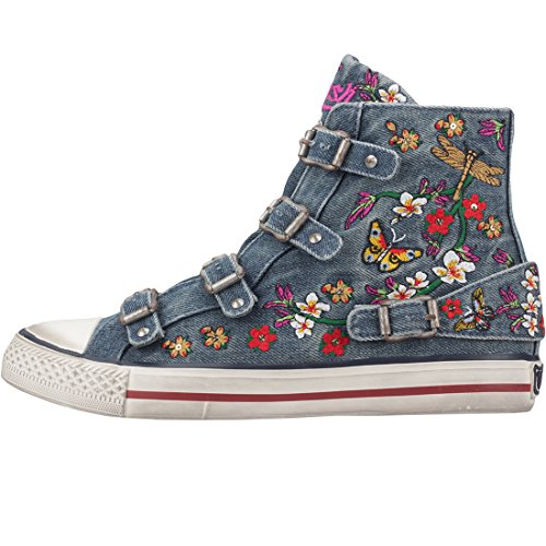 Virtu Cenere Lavato Denim Sneakers Damen