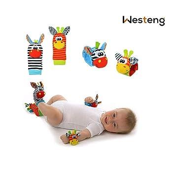 Westeng 4pcs bebé juguete muñecas Mignon Animal Donkey suave ...