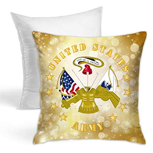 Miuins US Army Center Hold Pillow (Including Pillow Core) 1616 Inch
