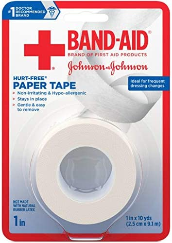 B000GCRWPS JOHNSON & JOHNSON BAND-AID First Aid Paper Tape 1 Inch X 10 Yards (Pack of 6) 519rS-a-CLL