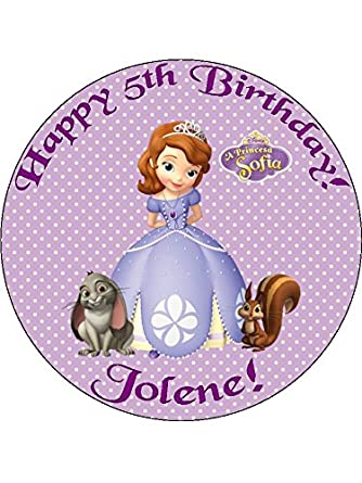 princess sofia the 7 5 personalised birthday cake