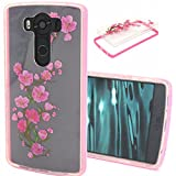 LG V10 Case,LG G4 Pro Case,Gift_Source [Drop Protection] [Plum flower] TPU Soft Back Case Slim fit Transparent Clear Back Panel Silicone Hybrid Thin Soft Bumper For LG G4 Pro / G4 Note / LG V10