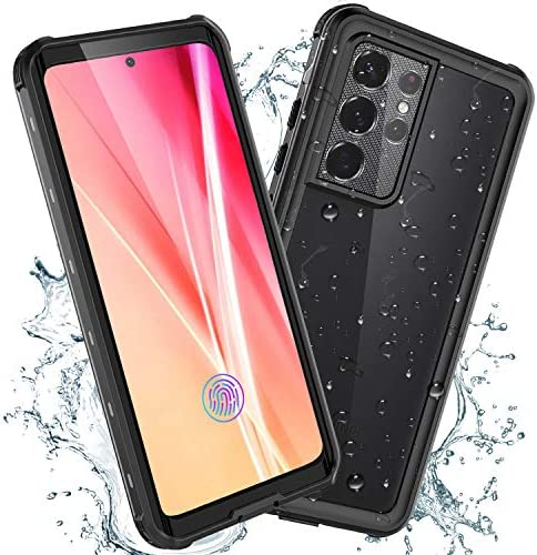 SECONDNUOR for Samsung Galaxy S21 Ultra Waterproof Phone Case Built-in Screen Protector Dropproof Shockproof Dustproof Full Body Sealed Underwater Protective Case Cover for Galaxy S21 Ultra 6.8 Inch