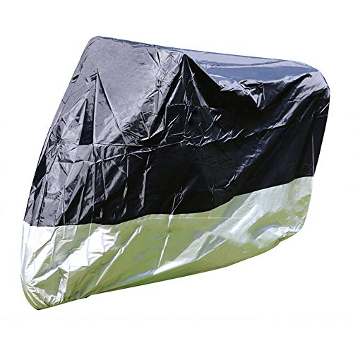 YZ Motorcycle Waterproof Cover Outdoor Protector Rain Dust Cover Bk SIL M