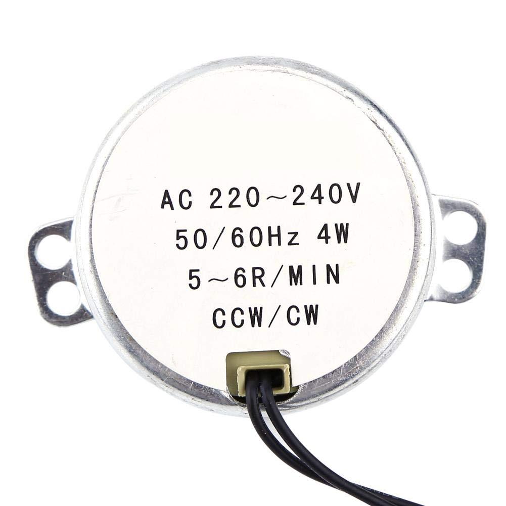 AC220 – 240V 4 W motore síncrono 50/60Hz CCW/CW girevole motore elettrico sincronizzato (5-6RPM) Wal front