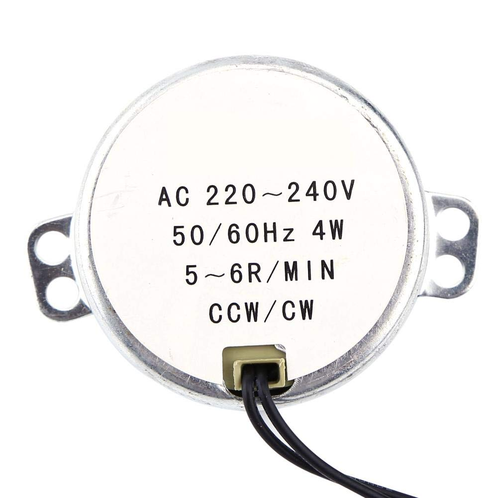 Akozon Motor sí ncrono turnable 220-240V CA 1Pc 4W CW/CCW(2.5-3RPM)