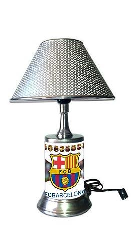 Amazon.com: FC Barcelona lámpara con cromado sombra, Lionel ...