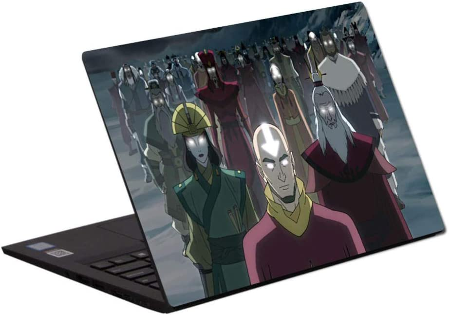 Laptop Skins Decals Notebook Cover Protective Skin Laptop Skin Vinyl 13-15.6 inch Anime Avatar: The Last Airbender Laptop Skin A