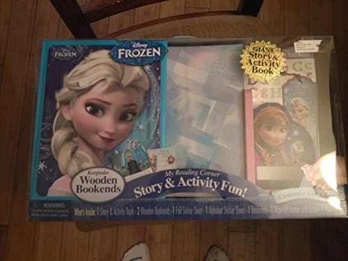 Disney's Frozen Bookends Story and ActivityFun My Reading (Best Disney Toys & Child Bookends)