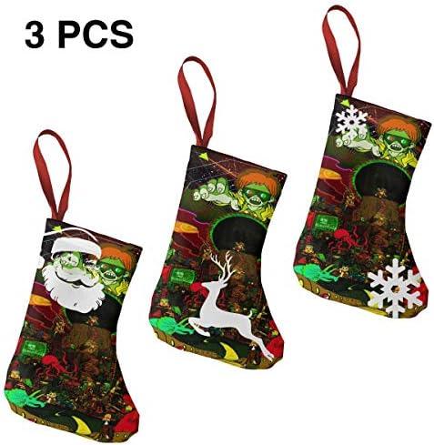 クリスマスの日の靴下 (ソックス3個)クリスマスデコレーションソックス ゲームボーイ クリスマス、ハロウィン 家庭用、ショッピングモール用、お祝いの雰囲気を加える 人気を高める、販売、プロモーション、年次式