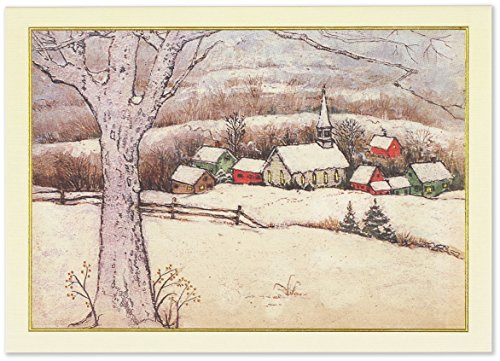 Snowy Village Deluxe Boxed Holiday Cards (Christmas Cards, Greeting Cards)