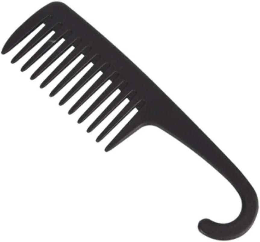 Peines de dientes anchos grandes Mango de gancho Desenredante Reduzca la pérdida de cabello Peine Pro Peluquería Salón de teñido Herramientas de cepillo de venta caliente