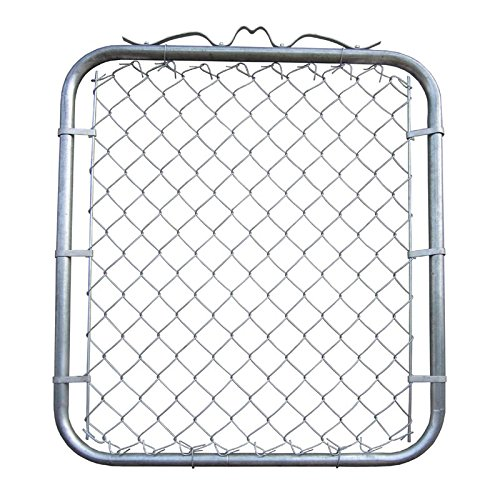 MTB Galvanized Chain Link Garden Walking Fence Gate 48-inch Overall Height by 32-inch Frame Width (Fit a 36-inch Opening), 1 Pack Chain Link Fence Walk-Through Gate by MTB Supply