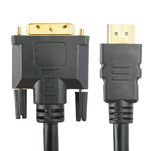 SHD DVI to HDMI Cable 20Feet,HDMI to DVI Cable Cord DVI D to HDMI Adapter Bi-Directional Monitor Cable for PC Laptop HDTV Porjector by SHD (Image #1)