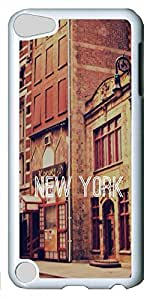 iPod Touch 5 Cases & Covers - New York Custom PC Soft Case Cover Protector for iPod Touch 5 - White