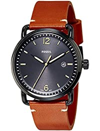 Men's FS5276 The Commuter Three-Hand Date Luggage Leather Watch