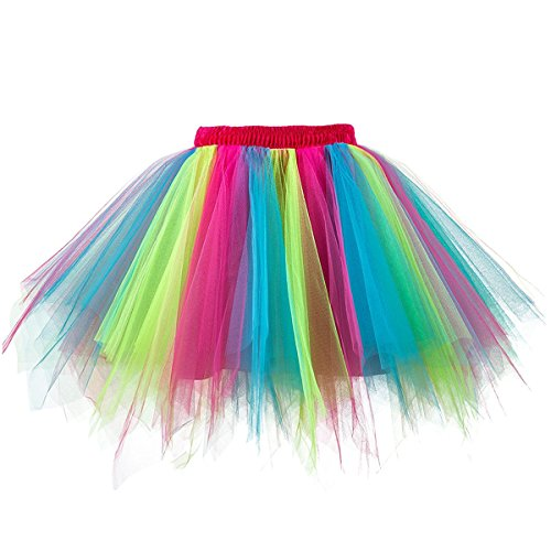 Musever 1950s Vintage Ballet Bubble Skirt Tulle Petticoat Puffy Tutu Multicolored Large/X-Large]()