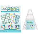 Double Wide Dresden Quilting Template Ruler and Book (with 13+ Projects) bundle from Me and My Sister Designs