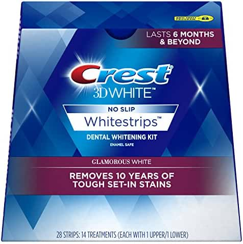 Crest 3D White Luxe Whitestrip Teeth Whitening Kit, Glamorous White, 14 Treatments - Packaging May Vary