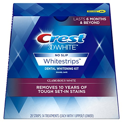 Crest 3D White Glamorous White Whitestrips Dental Teeth Whitening Strips Kit, 14 Treatments – Lasts 6 Months & Beyond